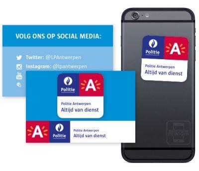 Politie Antwerpen smartphone reiniger