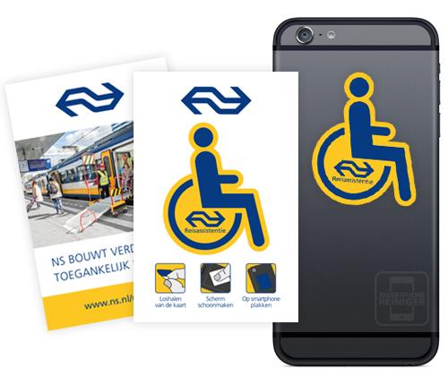 Nederlandse Spoorwegen smartphone reiniger