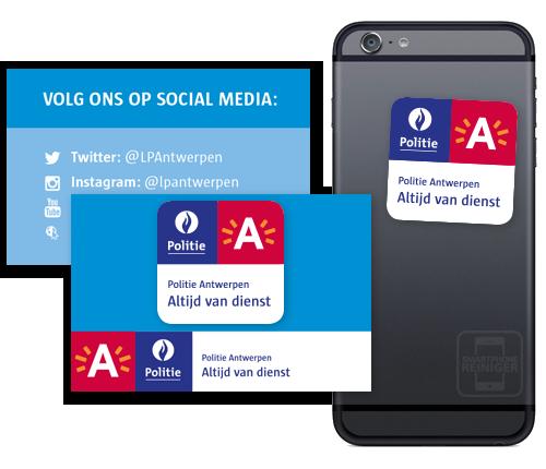 Politie Antwerpen - Smartphone Reiniger - Sticky Cleaner